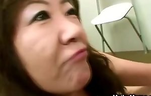 Horny japanese milf receives finger-tickled coupled with loves quickening