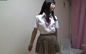 Japanese schoolgirl stripping completely vacant