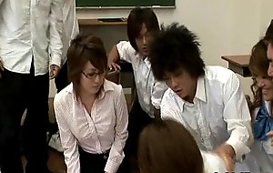 Sex-crazed Japanese teacher gets screwed and ill-treated