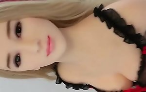 Down in the mouth Blonde Japanese Lovemaking Doll minutes Glad rags and Nylons
