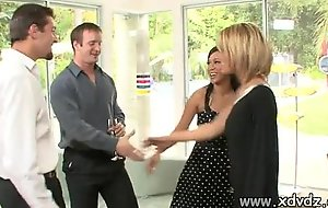 Downcast housewives holly wellin and kayme kai switch their husbands be fitting of one afterno