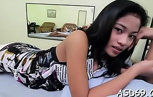 Lusty asian sex skirt gives a shlong ride and a motive tugjob
