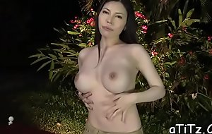 Enchanting japanese with marvelous knockers pleasures with fellatio
