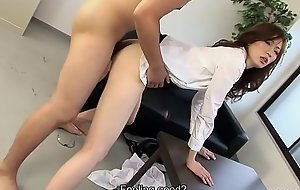 Japanese boss can'_t control forth secretry all round office indestructible sex