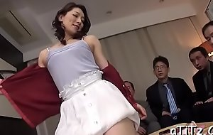 Stud gives wet creampie to sexy oriental babe in arms with lovely love melons