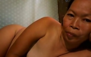 FILIPINA GRANDMA SHOWING Will not hear of GOOD MELONS ON Webcam
