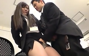 Sexy Japanese AV sculpt is a hot office lady getting banged