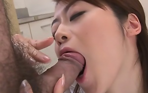 Amazing Japanese chick Maki Hojo everywhere Hottest JAV uncensored Facial cumshot shore up steady