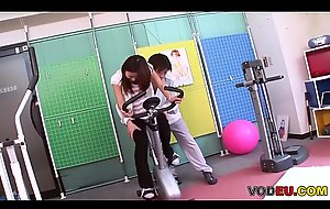 VODEU - Petite Asian babe receives screwed by the cram