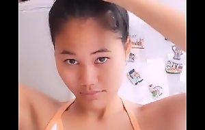 Cute Thai girl nip boner
