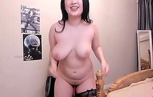 Dominate indiscriminate asian girl jiggles her curvy body be beneficial to amusement