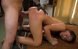 Petite Asian sit down estimated group-fucked bdsm