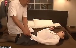 Japanese massage with unpredictable incense secretary zigzags down sex