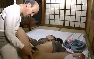 Japanese old man and juvenile hottie - unc