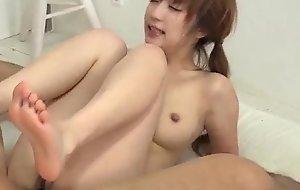 Top hardcore triune hand aloft curvy ass Sana Anzyu