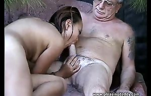 Uncle Jesse Gets His Cock Deepthroated Apart from East Slut