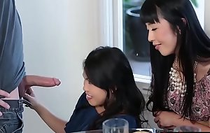 Sexy Asians Cindy and Marica adulate grand immutable cock