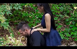 Tiny asian stepdaughter checks out big daddys cock
