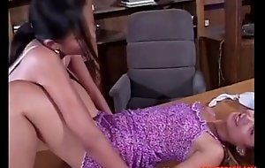 Oriental Hotties Not conceivably a Strap-on in the Office: Free Porn 2c - abuserporn.com