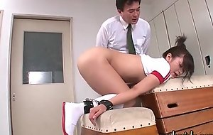 Cute asian babe gets holes screwed unconnected wide playthings