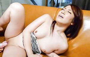Cute Sakura Ooba enjoys the brush indelicate desires pleased