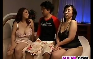 Two sexually sexually sexually prurient japanese mothers in a 3some
