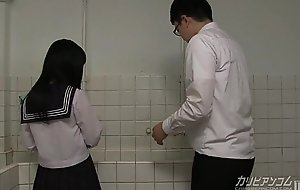 natural school girl gives ass-crack together with hand jobs for extra tolerating